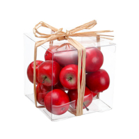 4 Inch H x 4 Inch W x 4 Inch L Assorted Faux Apple (16 Per/Box)