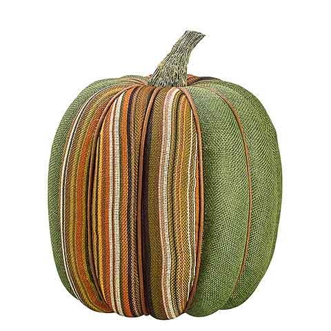 9 Inch x 8 Inch Burlap Artificial Pumpkin