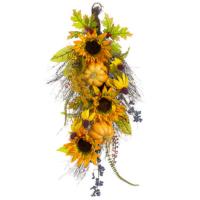 12 Inch x 26 Inch Pumpkin/Sunflower/Berry Door Swag