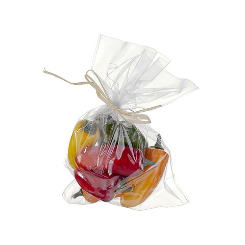 9 Inch x 7 Inch Faux Peppers Assortment In Bag (8 Per/Bag)