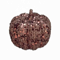 3 Inch Glittered Faux Pumpkin