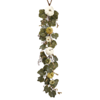 48 Inch Faux Pumpkin/Gourd/Grape Leaf Garland