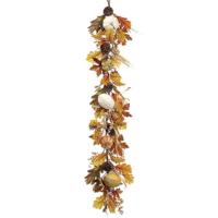 60 Inch Faux Pumpkin/Gourd/Corn Husk Garland