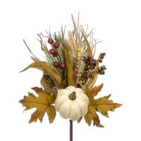17 Inch Faux Pumpkin/Lotus Pod/Grass Pick