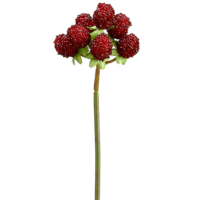 8.5 Inch Artificial Raspberry Pick Burgundy