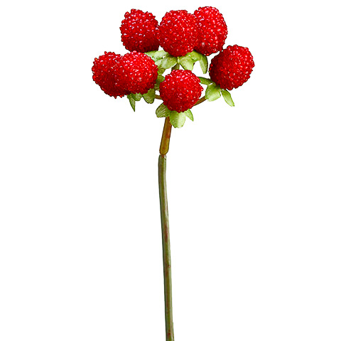 8.5 Inch Faux Raspberry Pick Red