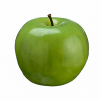 3 Inch Weighted Artificial Apple Two Tone Green