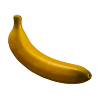 7.5 Inch Weighted Artificial Banana Yellow