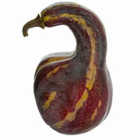 7.25 Inch Weighted Artificial Gourd Burgundy
