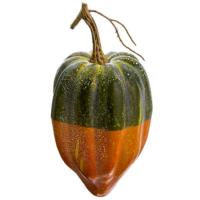 9 Inch Weighted Artificial Gourd Green Orange