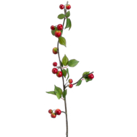 40 Inch Artificial Crab Apple Spray Red