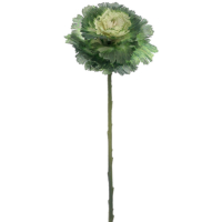 16.5 Inch Faux Cabbage Spray Green Cream