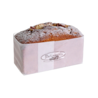 3.5 Inch H x 3 Inch W x 6 Inch L Sugared Loaf Faux Cake with Nuts