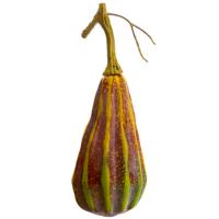 8 Inch Fake Gourd Brown Green