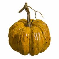 5.5 Inch Artificial Pumpkin Orange Brown