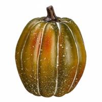 4.5 Inch Fake Pumpkin Green Orange