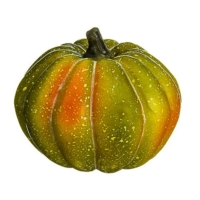 3.5 Inch Artificial Pumpkin Green Orange