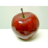3.25 Inch Soft Plastic Faux Apple Dark Red