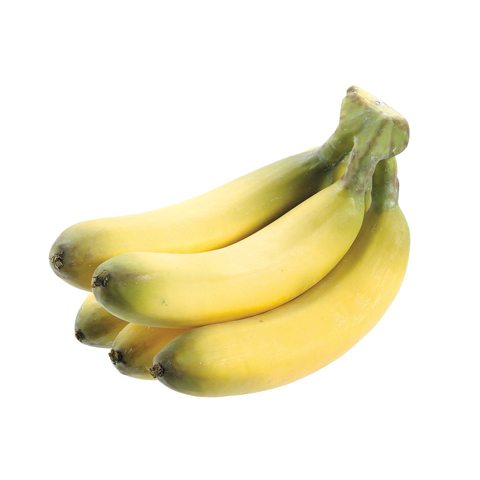 9 Inch Long x 6 Inch Wide Artificial Banana Bunch, Fake Banana Bunch, Plastic Banana Bunch