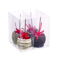 6.7 Inch H x 6.5 Inch W x 6.5 Inch L Assorted Faux Candy Apple with Hanger (4 Per/Box)