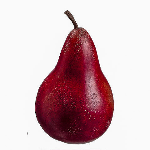4.5 Inch x 3 Inch Weighted Anjou Faux Pear