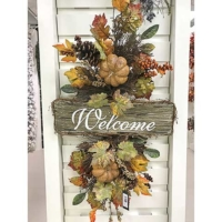 36 Inch Faux Pumpkin/Berry/Fall Leaf Door Swag