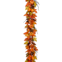 6 Foot Maple Leaf/Pumpkin/Gourd Garland