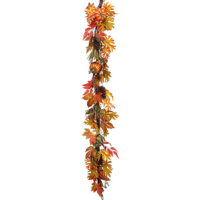 6 Foot Faux Pumpkin/Berry Garland