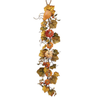 4 Foot Pumpkin/Gourd/Berry/Grape Leaf Garland