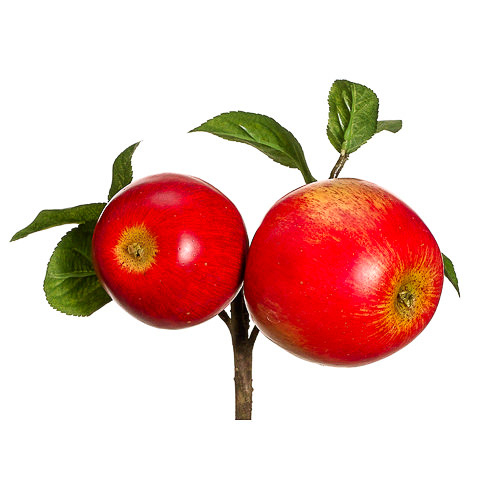 8 Inch Faux Apple Pick Red
