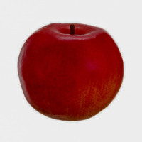 3.9 Inch Foam Weighted Faux Apple Two Tone Red