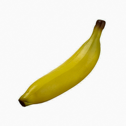 8 Inch Soft Plastic Banana Yellow
