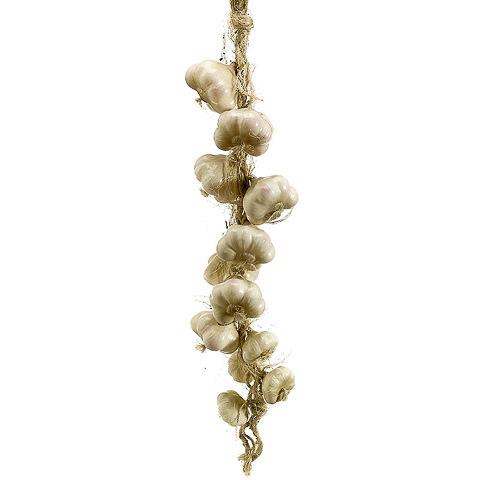 25 Inch Faux Garlic String