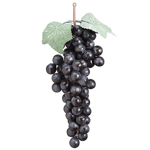 10 Inch Faux Grape Cluster Burgundy
