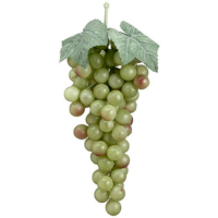 10 Inch Faux Grape Cluster Light Green