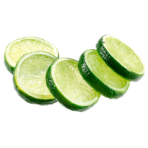 2 Inch Faux Lime Slices (5 Per/Bag)