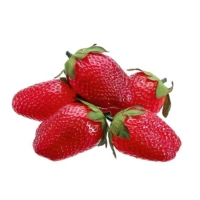 2.5 Inch Soft Plastic Strawberry (5 Per/Bag)