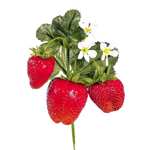 6 Inch Fake Strawberry Pick