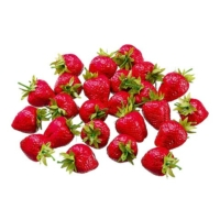 1.75 Inch x 1.75 Inch PVC Plastic Strawberry (24 Per/Bag)