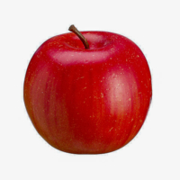 2.9 Inch Weighted Faux Apple Red