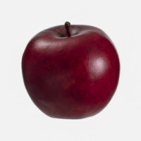 3.3 Inch Weighted Faux Apple Red