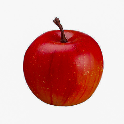 1.55 Inch Weighted Fake Apple Red