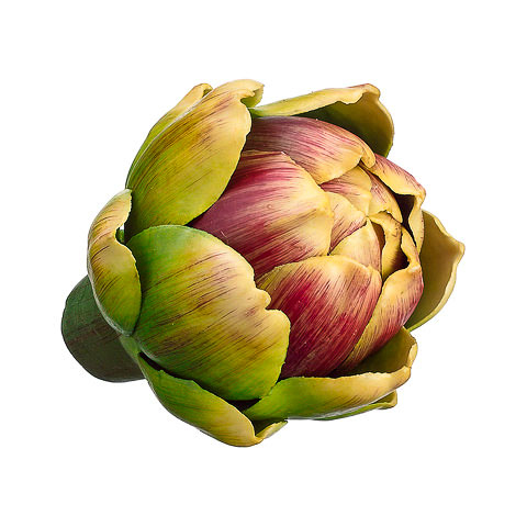 2.75 Inch Weighted Mini Faux Artichoke Green