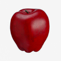 3 Inch Weighted Delicious Fake Apple Two Tone Red