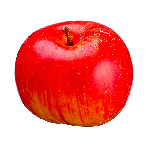 2.5 Inch Weighted Faux Lady Apple Red