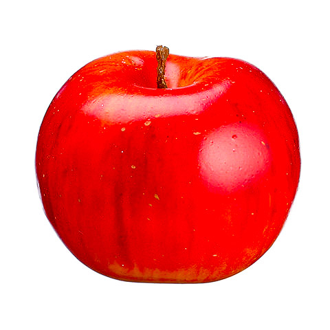 2.5 Inch Weighted Faux Lady Apple Two Tone Red