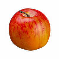 3 Inch Weighted Fake Apple Two Tone Red