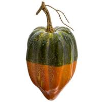 9 Inch Weighted Artificial Gourd Green Orange