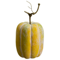 15 Inch Weighted Faux Pumpkin Antique Yellow