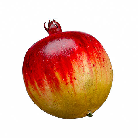 3.5 Inch Weighted Faux Pomegranate Red Green